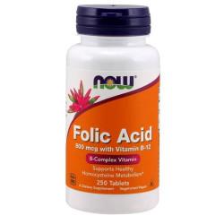 Folic Acid 800 mcg with Vitamin B12 250 tabs