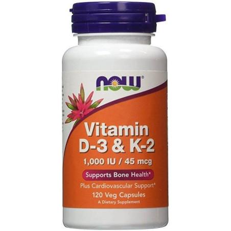 Vitamin D-3 & K2 - 120 Vcaps