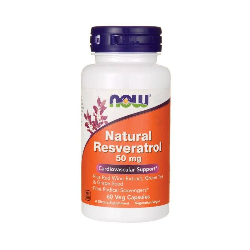 Natural Resveratrol 50mg 60 Vcaps