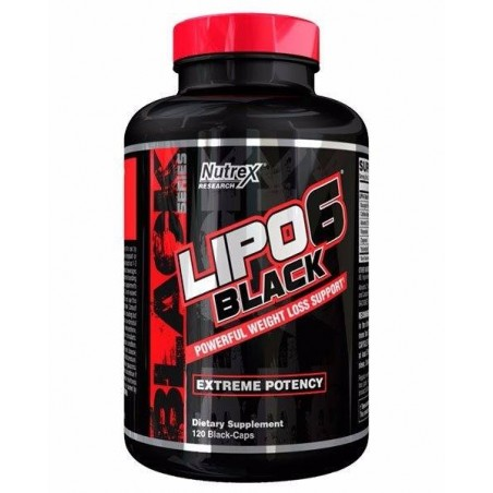 Lipo-6 Black 120 Black-caps