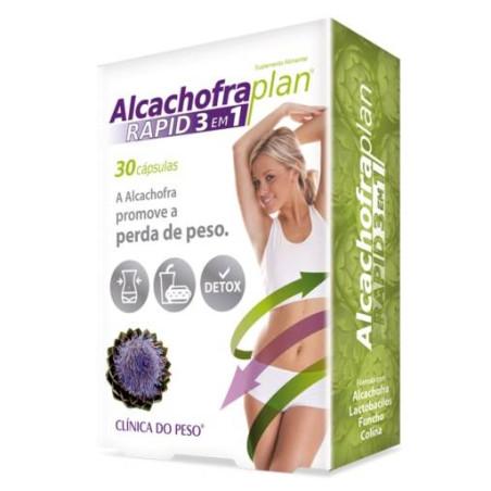 Alcachofra Plan Rapid 3 em 1 - 30 caps