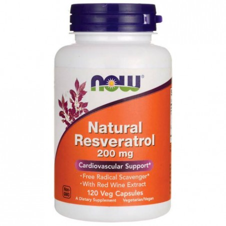 Natural Resveratrol 200mg - 120 Vcaps