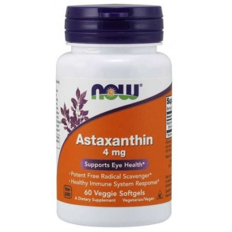 Now Foods Astaxanthin 4mg 60 veggie softgels