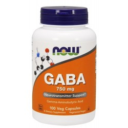 Now foods GABA 750mg - 100 Vcaps