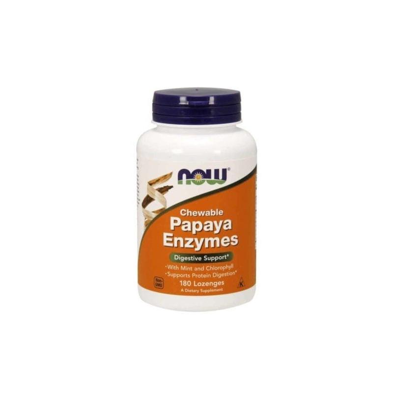 Now Papaya Enzymes 180 tabs