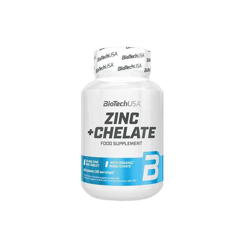 biotech Zinc + Chelate 60 tabs
